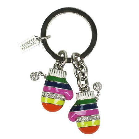 COACH  水鑽彩虹金屬手套造型鑰匙圈禮盒(彩)