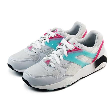 (大童)PUMA R698 MESH-NEOPRENE JR 休閒鞋 灰白/螢光粉紅-35971102