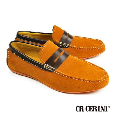 【CR CERINI】輕量休閒經典樂福鞋 焦糖色(79463-TANS)
