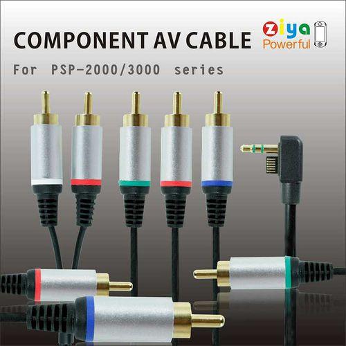 [ZIYA] SONY PSP3000 AV Cable 視訊傳輸線 (色差線 金屬五接頭)