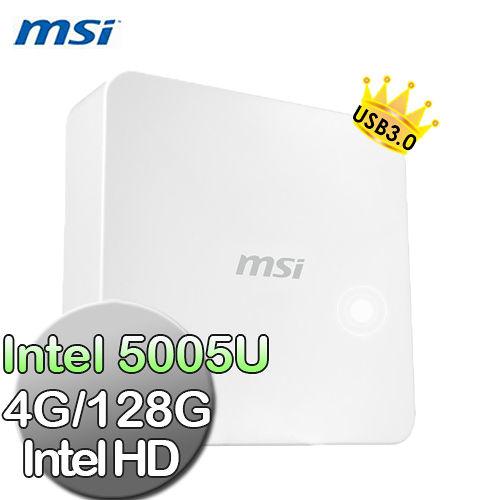 【msi微星】Cubi-073XTW I3-5005U 4G 128G輕巧隨行小主機(無系統)