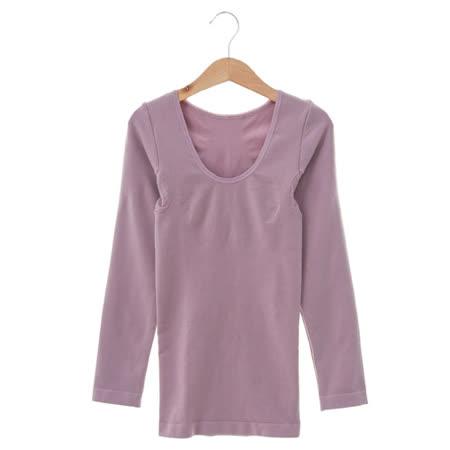 黛安芬-曲線美体衣 超保暖長袖上衣M-EL(紫)