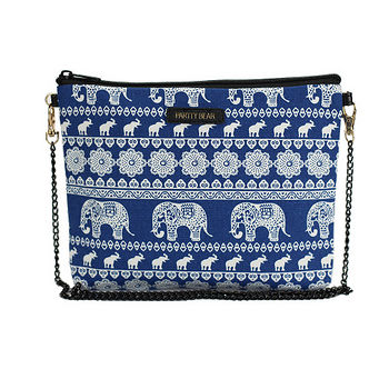 PARTTY BEAR 泰國風格包大象-藍