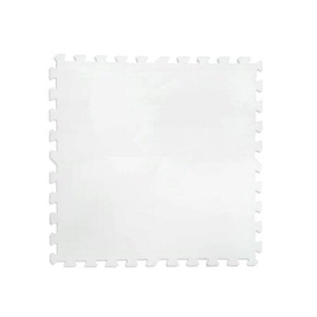 【新生活家】舒柔運動地墊螺旋紋62x62x1.4cm白4入