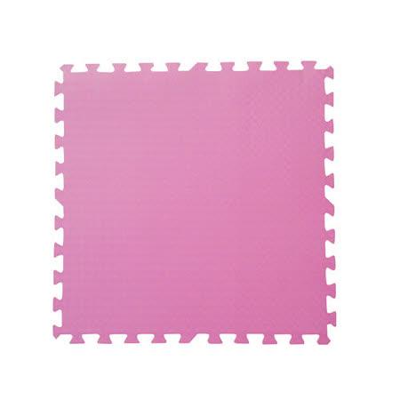 【新生活家】舒柔運動地墊螺旋紋62x62x1.4cm 粉紅4入