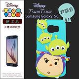 TSUM TSUM 迪士尼正版授權 三星 Samsung Galaxy S6 立體手機軟膠套(三眼怪+巴斯光年)