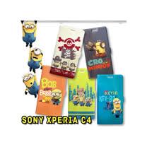 Minions 小小兵 正版授權 Sony Xperia C4 磁扣立架手機皮套