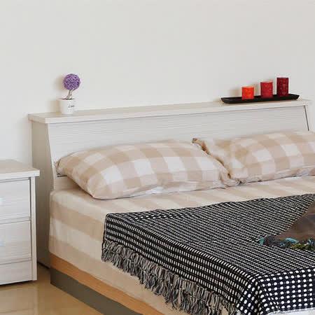 【幸福屋】维尼絲5尺雪山白色雙人床頭箱