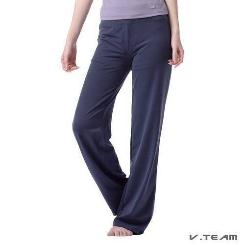 V.TEAM-寬鬆自然韻律長褲-女-深海藍