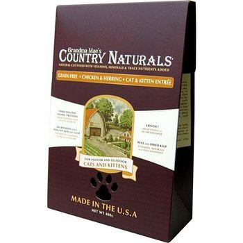 Country Naturals 格然斯 雞肉鯡魚 無穀成幼貓配方 3磅 X 1包