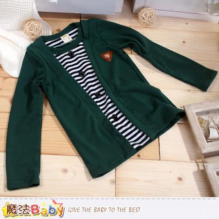 魔法Baby~男童假兩件針織上衣 k42572