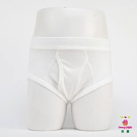 【Anny pepe】男童素面三角褲/白_美國精梳棉