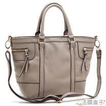 【法國盒子】時尚魅力造型拉鍊(灰色)MDL-988