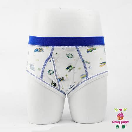 【Anny pepe】男童工程車三角褲/白_Modal吸濕排汗款