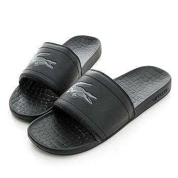 LACOSTE (男/女)簡約時尚中性休閒拖鞋-黑-PM0057-02H