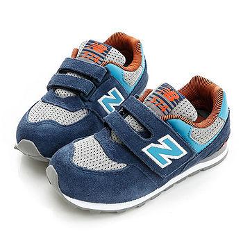 New Balance (童)574系列寬楦運動鞋-藍-KG574OCI