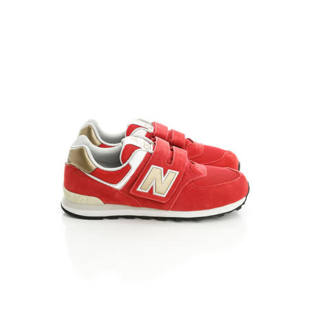 New Balance (童)574系列復古慢跑鞋-紅-KV574CNY