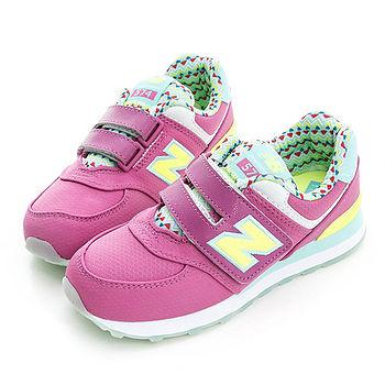 New Balance (童)574系列魅力經典復古鞋-粉紫-KV574S6Y