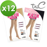 【Tric】台灣製 輕盈30Den*12雙 超薄美肌透膚襪(顯瘦腿襪/健康襪/彈力襪/絲襪褲襪)