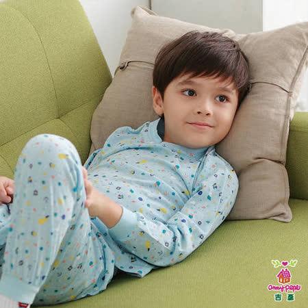【Anny pepe】男童鯨魚家居冷氣衫/藍_Modal吸濕排汗款