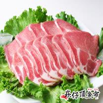 【崁仔頂魚市】台灣梅花豬烤肉片3份組(500g/份)
