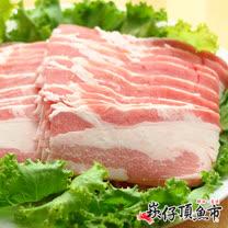 【崁仔頂魚市】台灣豬五花烤肉片6份組(500g/份)