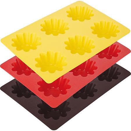 《TESCOMA》六格矽膠花型蛋糕烤盤(7cm)