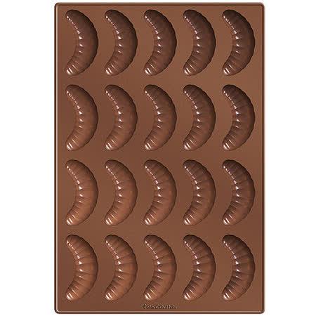 《TESCOMA》20格矽膠彎月蛋糕烤盤(32cm)