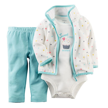 美國 Carter / Carter's 嬰幼兒秋冬外套包屁衣長褲三件組_CTGC032