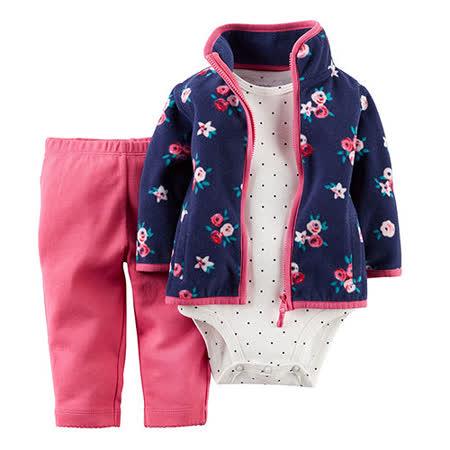 美國 Carter / Carter's 嬰幼兒秋冬外套包屁衣長褲三件組_CTGC033