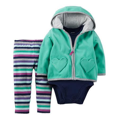 美國 Carter / Carter's 嬰幼兒秋冬外套包屁衣長褲三件組_CTGC035