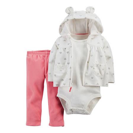 美國 Carter / Carter's 嬰幼兒秋冬外套包屁衣長褲三件組_CTGC037