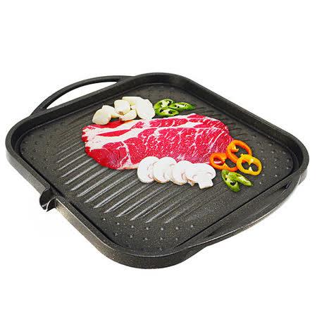 韓國原裝大理石方形凸烤盤NY1117(正方形30CM)
