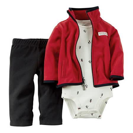 美國 Carter / Carter's 嬰幼兒秋冬外套包屁衣長褲三件組_CTBC025