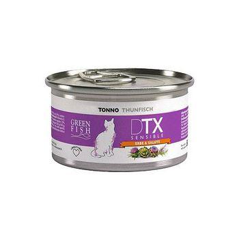 GREEN FISH葛林菲 DTX低敏護肝貓食糧-鮪魚 貓罐 80G X 32入