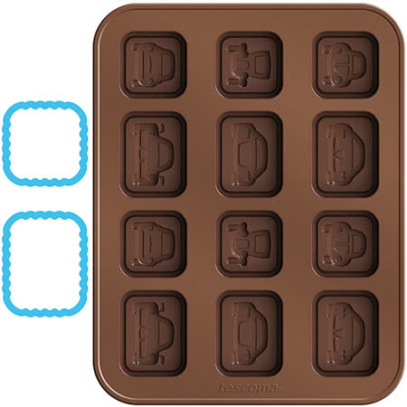 《TESCOMA》巧克力模+層架切模(汽車)