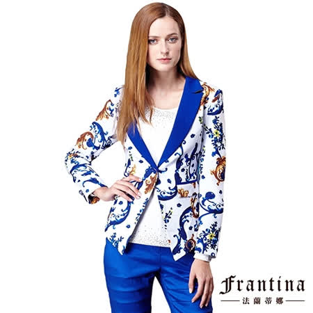 【法蘭蒂娜】波西米亞開襟收腰窄版西裝外套