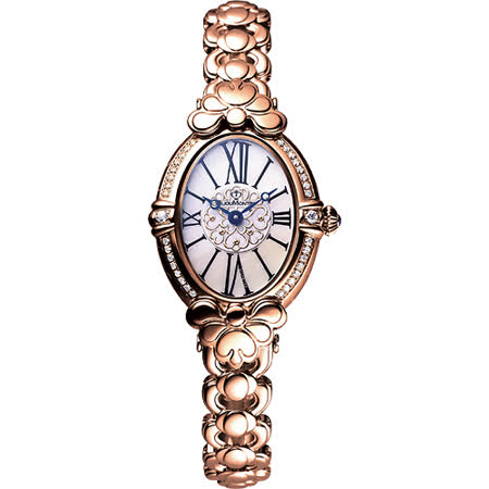 BijouMontre 寶爵 凱薩琳鑽錶-玫塊金/25x35mm 33011
