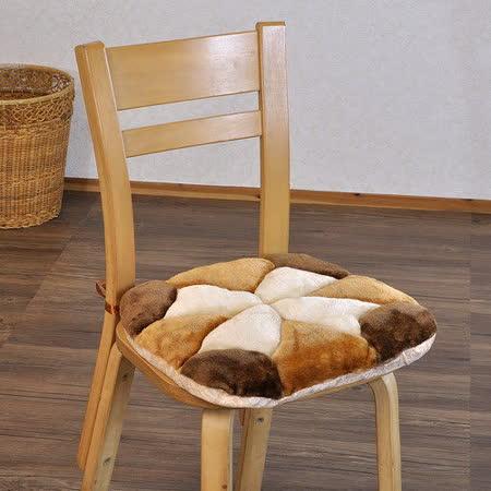 【格藍】花兒絨毛餐椅墊(43x43CM)-棕