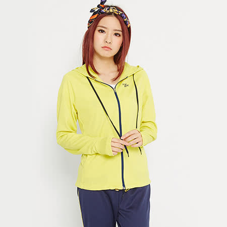 【TOP GIRL】抽繩抗UV吸排連帽外套-女-(共二色)