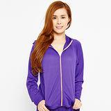 FIVE UP-彩艷抗UV針織薄外套-紫