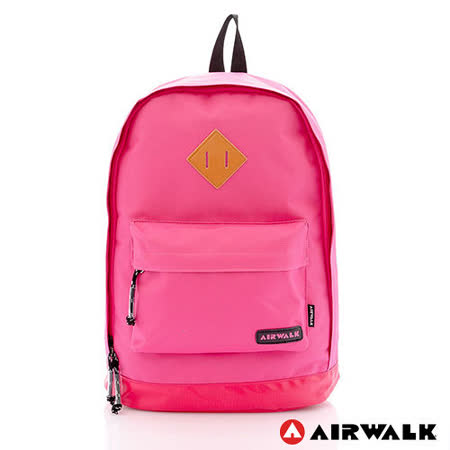AIRWALK - 古著布紋 簡單豬鼻系筆電後背包 - 小豬粉