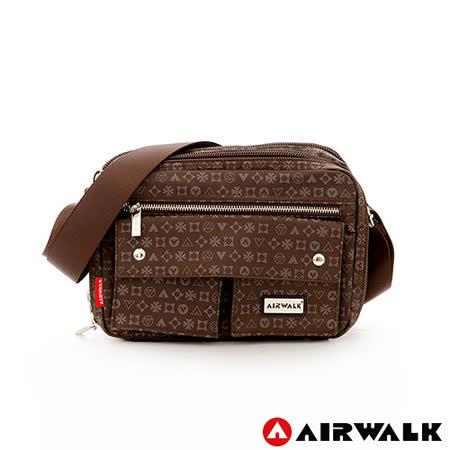 AIRWALK - 側背包 隨身寶 防潑水百搭口袋側背小包 - 咖