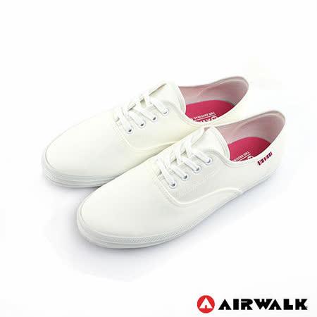 AIRWALK(女) - 美式帆布鞋 SWEET繽紛輕柔感純棉帆布鞋 - 米白