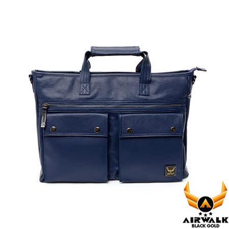 AIRWALK - 黑金系列 空降使者之規距之間筆電公事包 - 規律藍