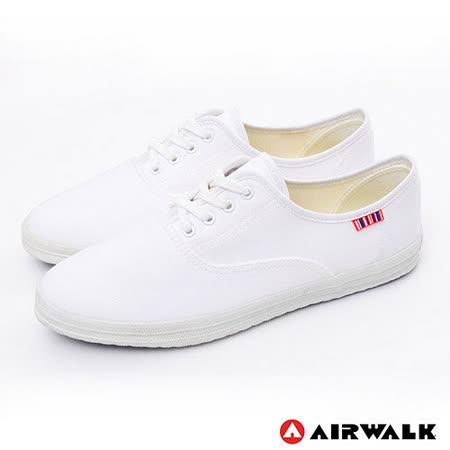 AIRWALK(女) - 帆布鞋 SWEET繽紛輕柔感 純棉帆布鞋 - 潔淨白