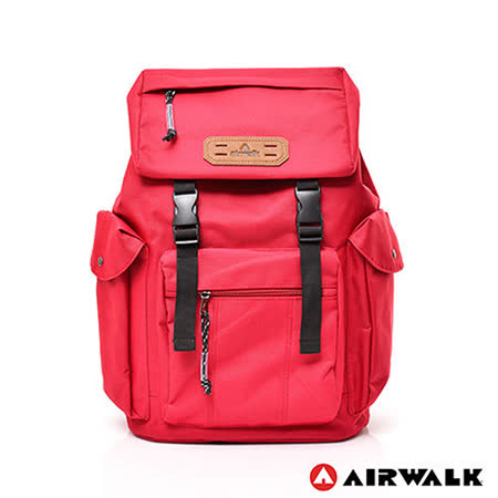 AIRWALK - 韓系休閒系列束口後背包 - 紅色