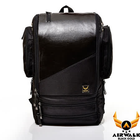 AIRWALK - 黑金系列 玩轉幾何系列 箱型機器人後背包(大) - 科技黑