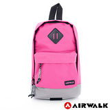 AIRWALK - 小女生的斜肩包 雙色調尼龍小斜肩包 - 小豬粉紅