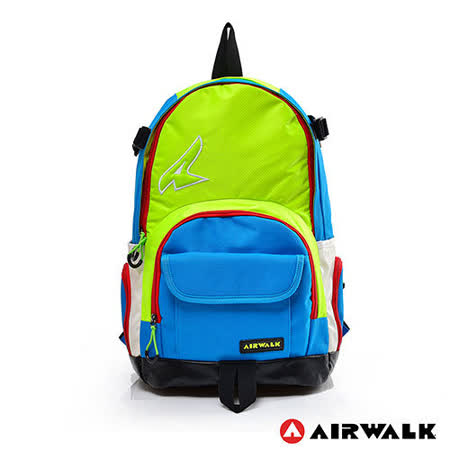 AIRWALK - 幾何多功能原色後背包 - 螢光綠